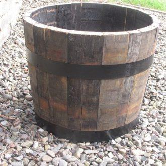 Wooden Garden Planters Half Barrel Planters Stretton Oak Tubs