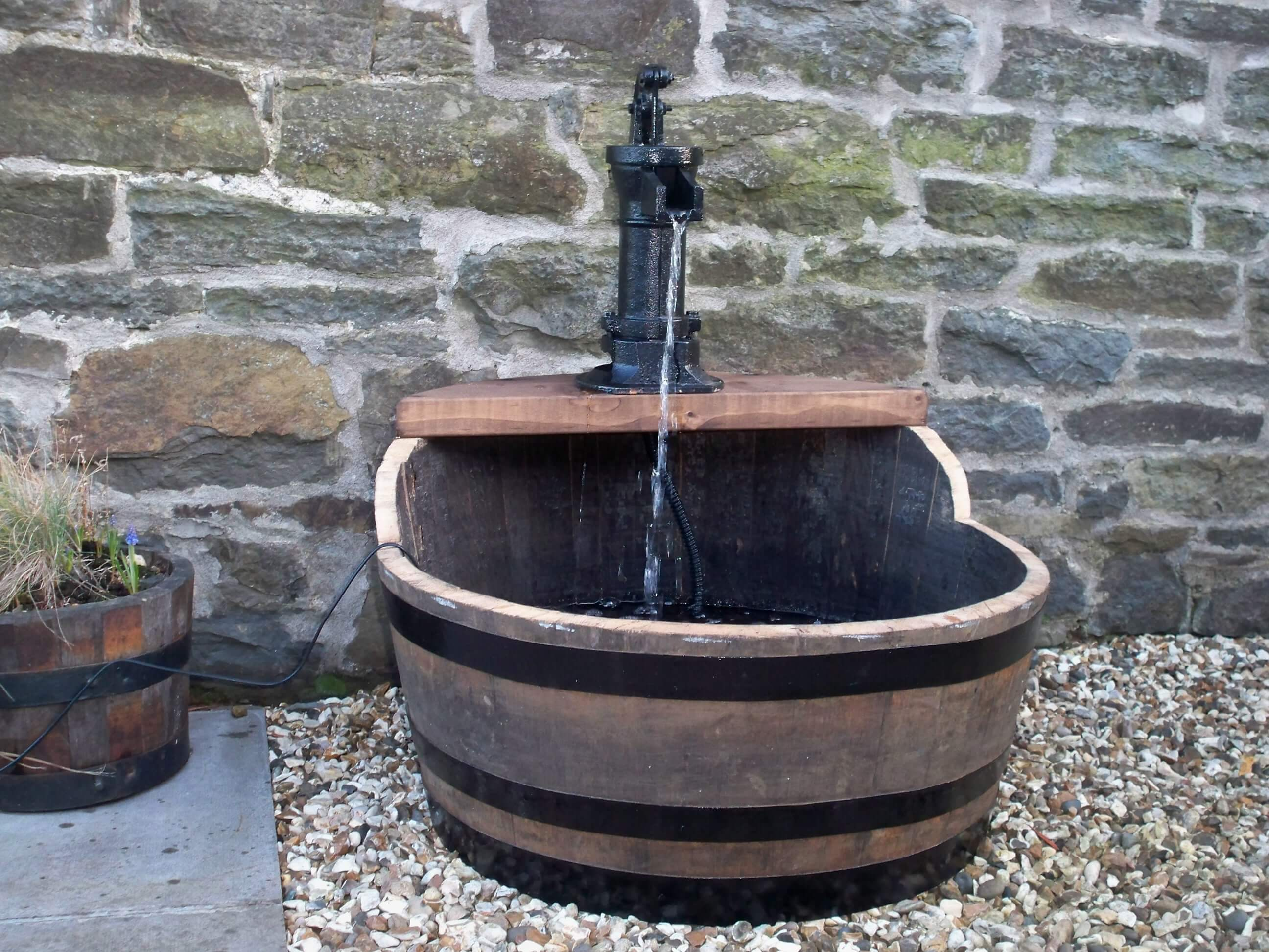 Garden Water Feature with Tap from Stretton Oak Tubs