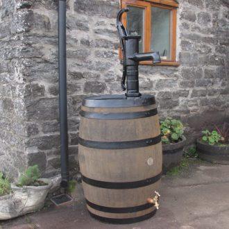 oak barrel water feature | barrel water butts | wooden Water butt