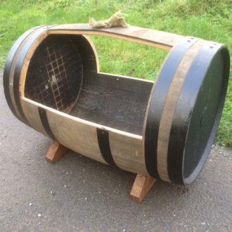 complete oak barrel planter