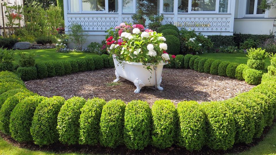 bath garden feature