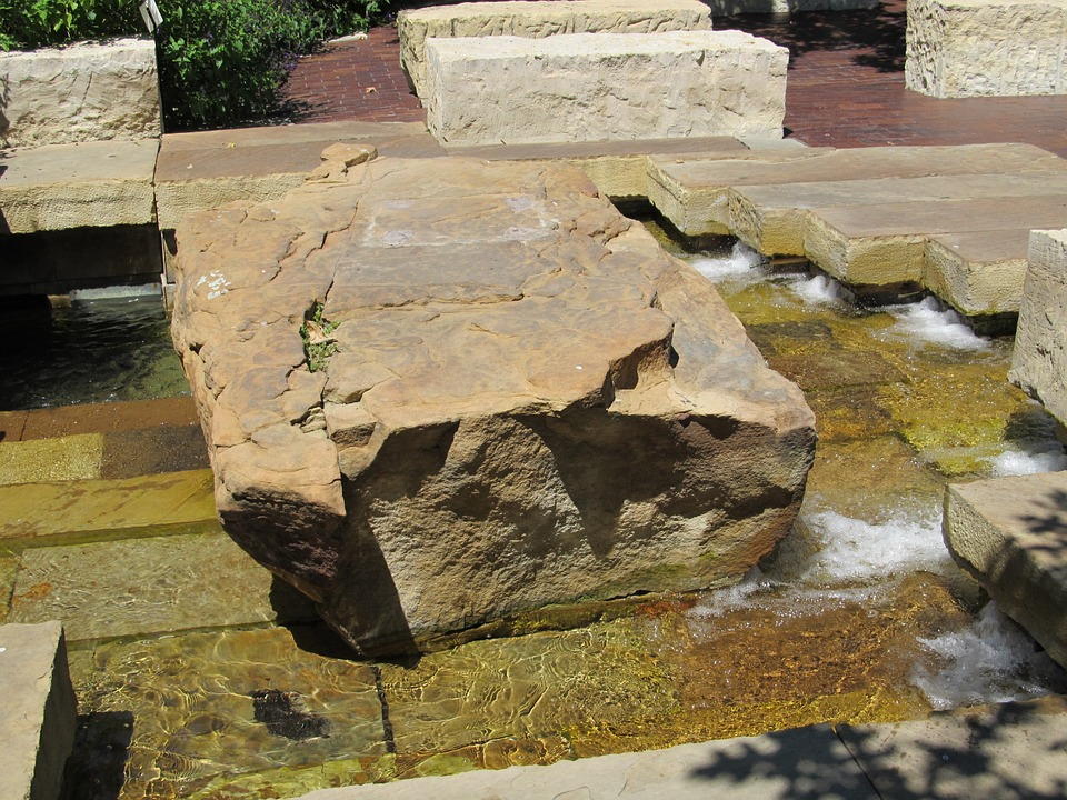 contemporary stone feature